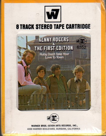 Kenny Rogers And The First Edition - Ruby Don't Take Your Love To Town Sealed 8-track tape