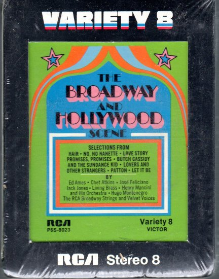The Broadway and Hollywood Scene - Various Artists Sealed 8-track tape