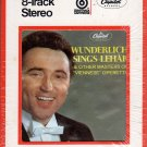 Fritz Wunderlich - Wunderlich Sings Lehar 1968 CAPITOL Sealed 8-track tape