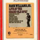 Hank Williams Sr. - Live At The Grand Ole' Opry 8-track tape