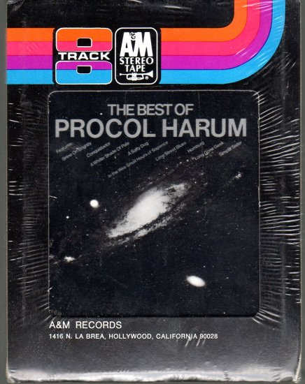 Procol Harum - The Best Of Procol Harum Sealed 8-track tape