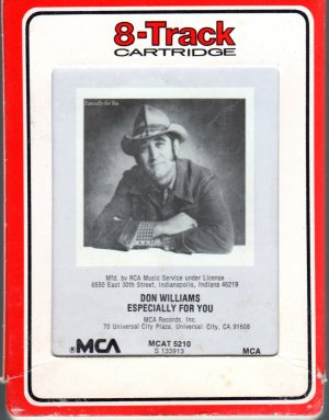 Don Williams - Especially For You 8-track tape