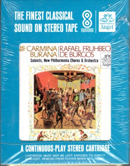 Carl Orff  & The New Philharmonia Chorus and Orchestra - Carmina Burana Sealed 8-track tape