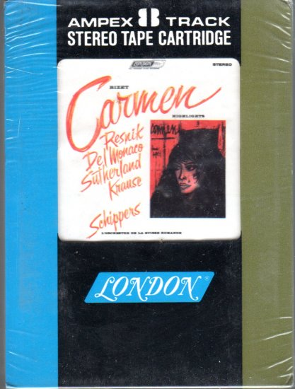 Resnik, Del Monaco, Sutherland, Krause and  - Bizet Carmen Highlights Sealed 8-track tape