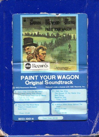 Paint Your Wagon - Original Soundtrack 8-track tape