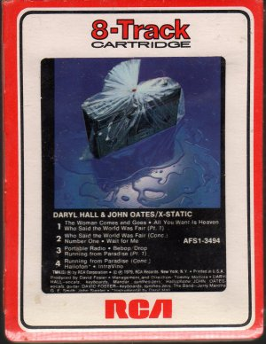Daryl Hall & John Oates - X-Static Sealed 8-track tape
