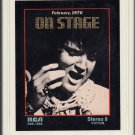 Elvis Presley - On Stage February 1970 8-track tape