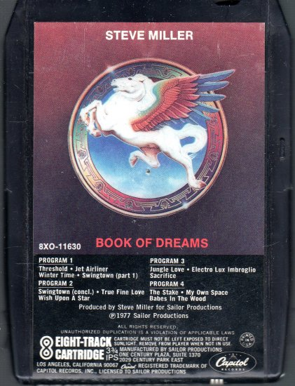 Steve Miller Band - Book Of Dreams 1977 CAPITOL 8-track tape