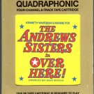 The Andrew Sisters - Over Here Original Cast Recording 1974 CBS Quadraphonic 8-track tape
