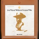 Hank Williams Sr. - 24 Of Hank Williams Greatest Hits 8-track tape