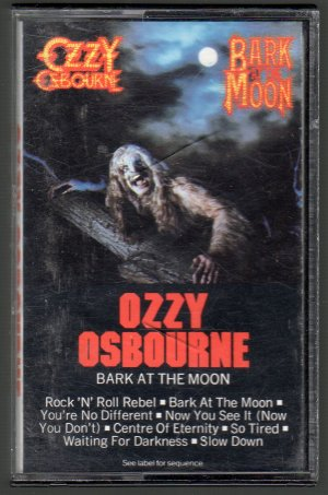 Ozzy Osbourne - Bark At The Moon Cassette Tape