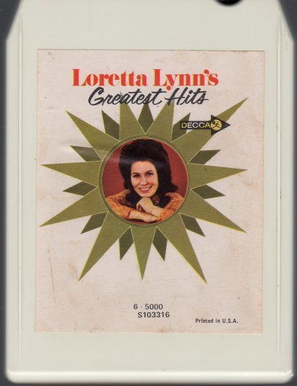 Loretta Lynn - Greatest Hits ( Decca ) A2 8-track tape