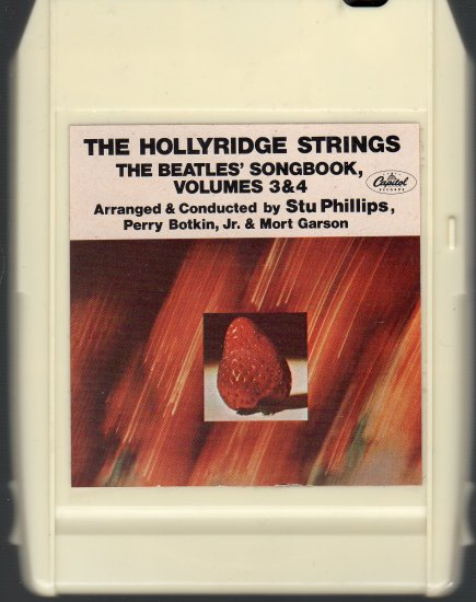 The Hollyridge Strings - The Beatles' Songbook Vol. 3 & 4 ( Capitol ) 1966 8-track tape