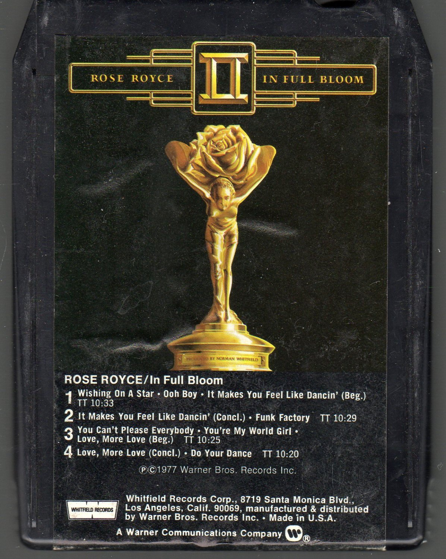 Rose Royce II - In Full Bloom 8-track tape