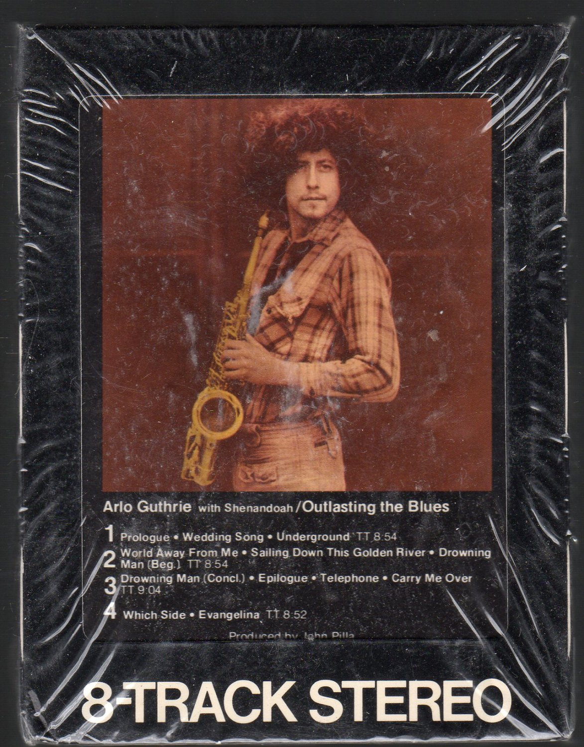 Arlo Guthrie - with Shenandoah Outlasting The Blues Sealed 8-track tape