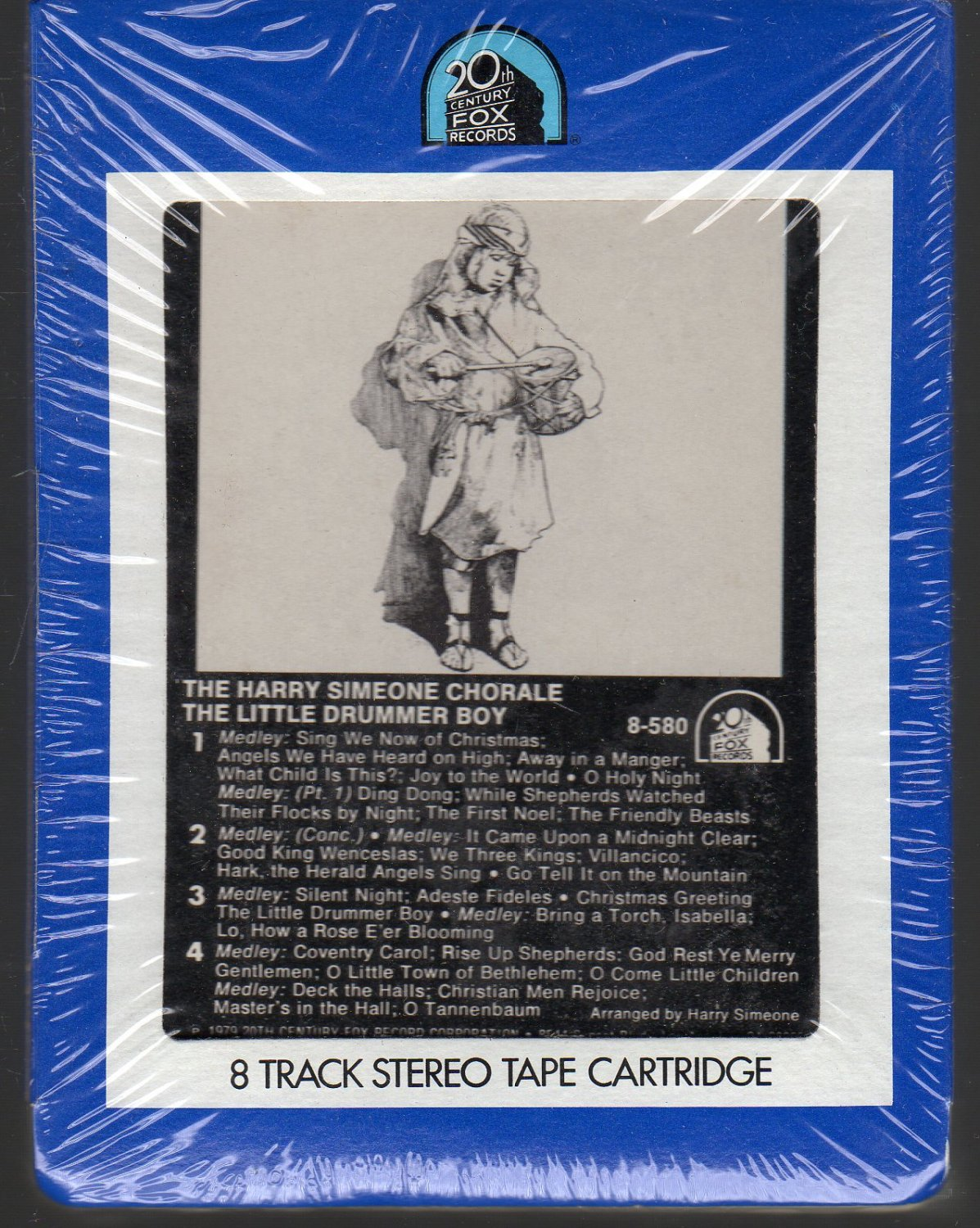 The Harry Simeone Chorale - The Little Drummer Boy (20th Century) Sealed 8-track tape