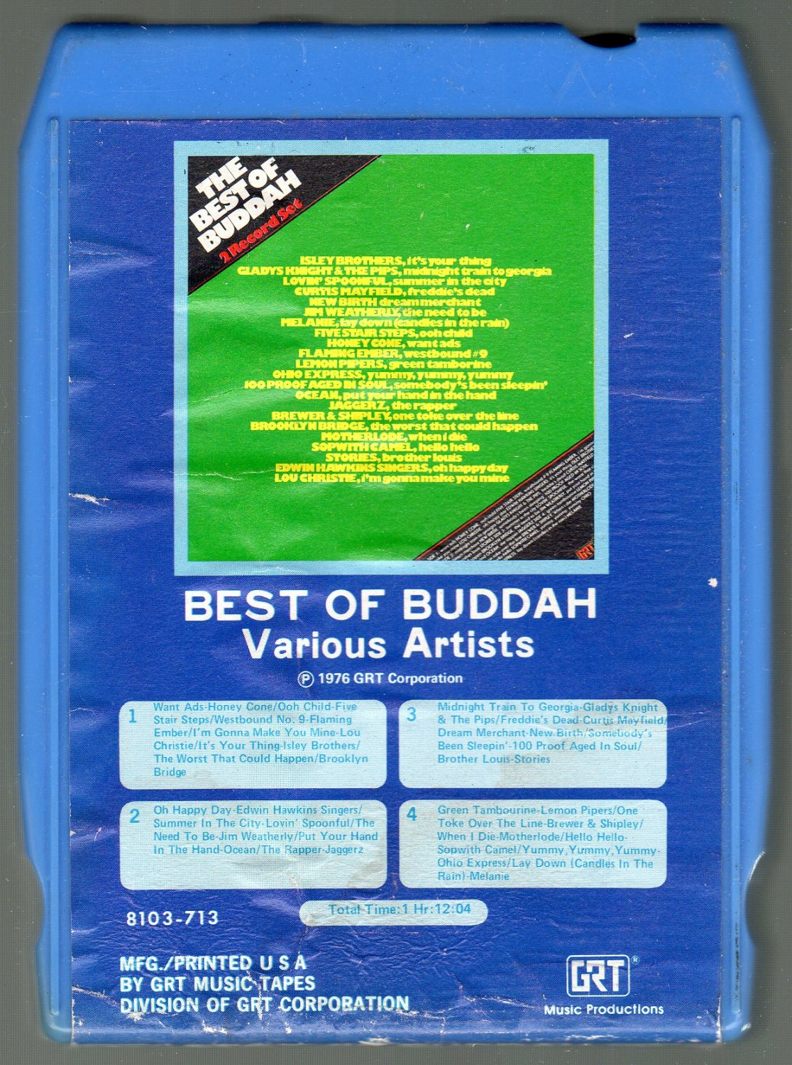 Best Of Buddah - Various Rhythm & Blues 8-track tape