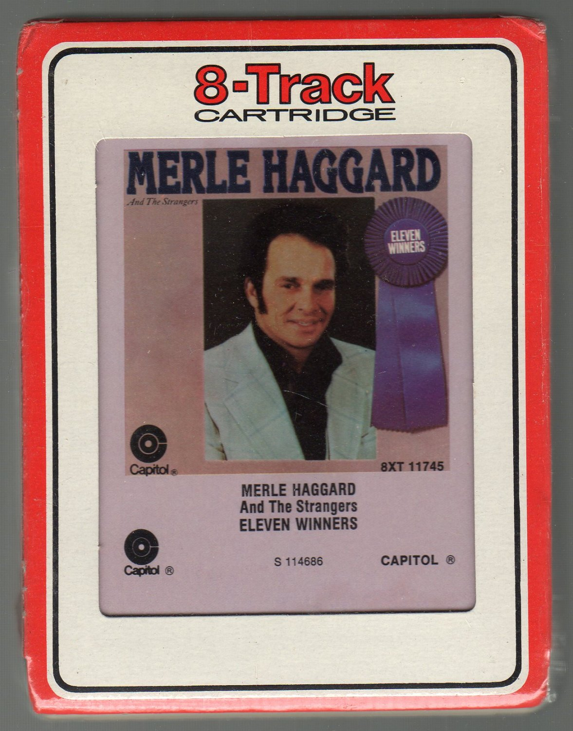 Merle Haggard And The Strangers - ELEVEN WINNERS Sealed RCA 8-track tape