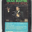 Dean Martin - Dean Martin 20 Great Hits TEE-VEE A46 8-track tape