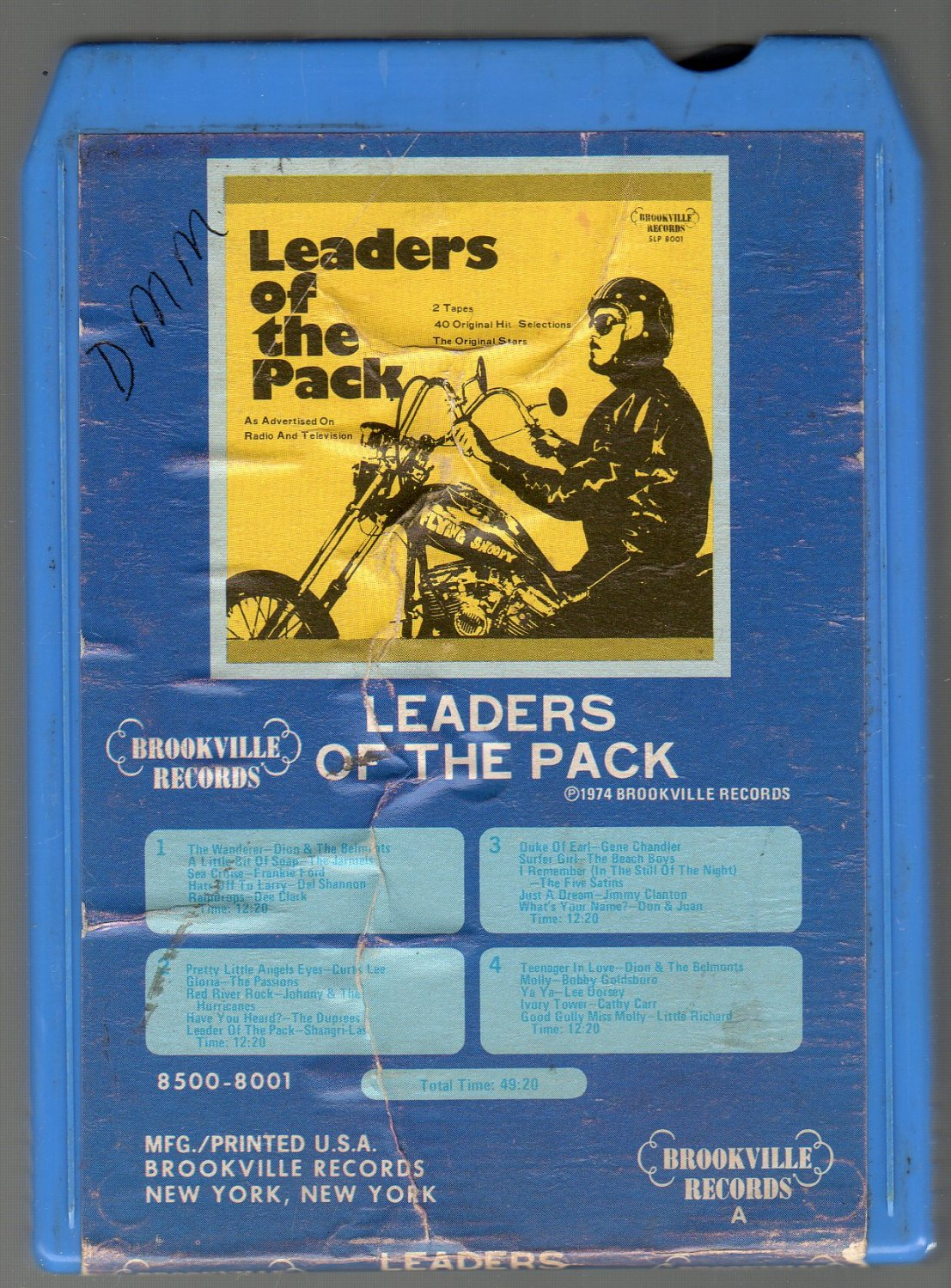Leaders Of The Pack - Various Rock Artist Part 1 8-track tape