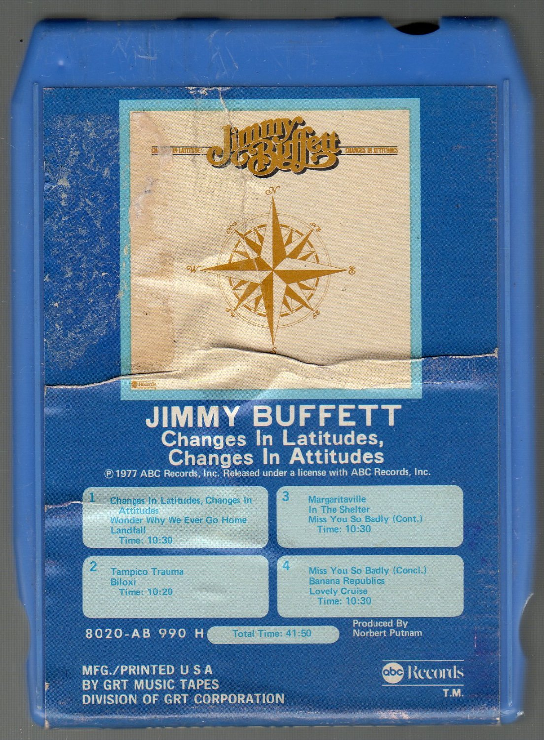 Jimmy Buffett - Changes In Latitudes, Changes In Attitudes SOLD 8-track tape