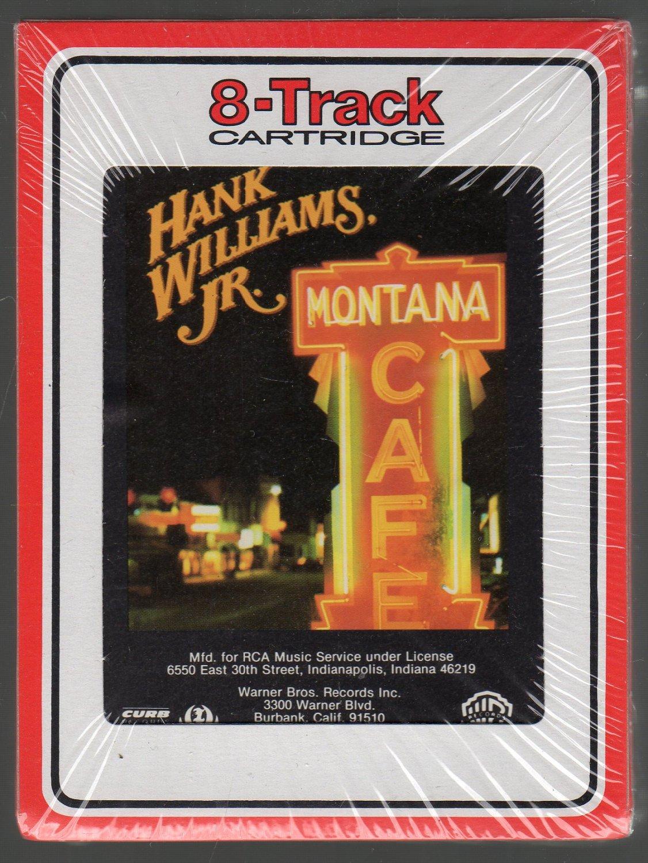Hank Williams Jr. - Montana Cafe 1986 RCA Sealed 8-track tape
