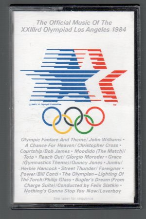 The Official Music Of The XXIIIrd Olympiad Los Angeles 1984 SOLD Cassette Tape