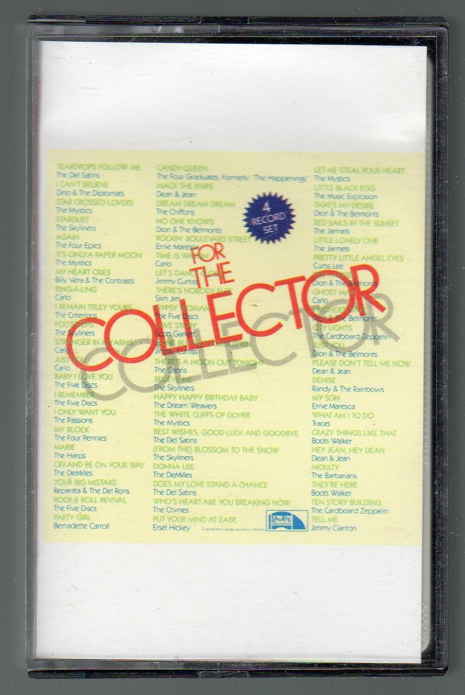 For The Collector - Various Popular Favorites CRC Cassette Tape