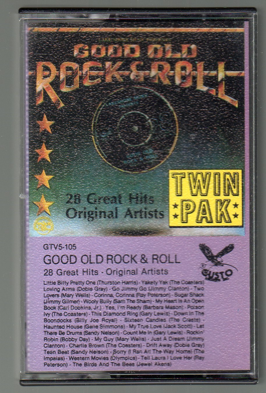 Good Old Rock N' Roll - 28 Great Hits Original Artists 1975 GUSTO Cassette Tape