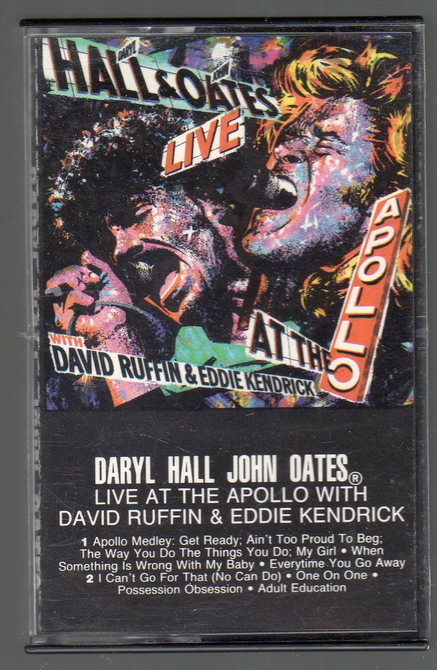 Daryl Hall & John Oates - Live At The Apollo with David Ruffin and SOLD Kendricks Cassette Tape