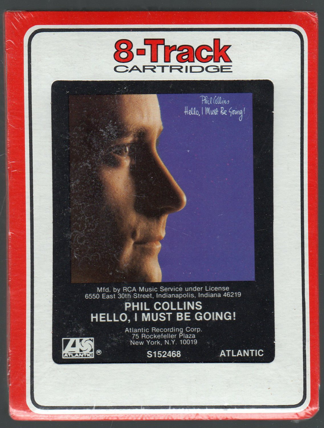 Phil Collins - Hello I Must Be Going 1982 RCA SOLD Sealed 8-track tape