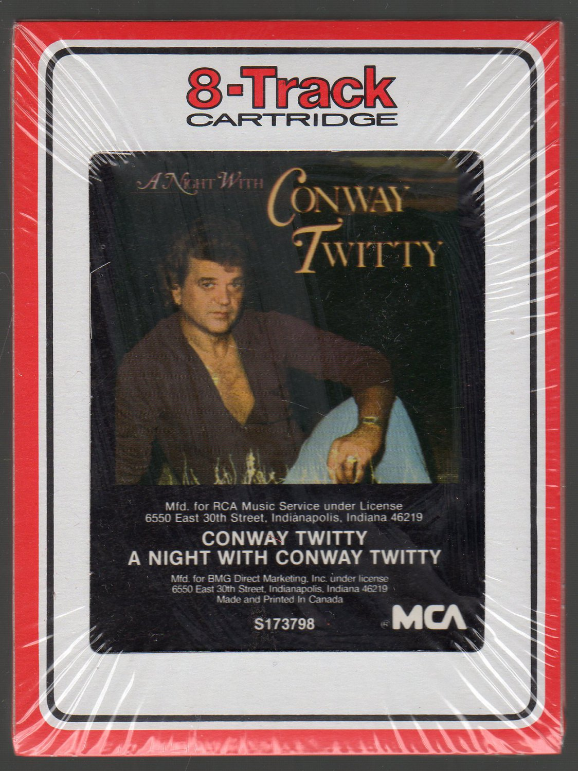 Conway Twitty - A Night With Conway Twitty 1986 RCA Sealed 8-track tape