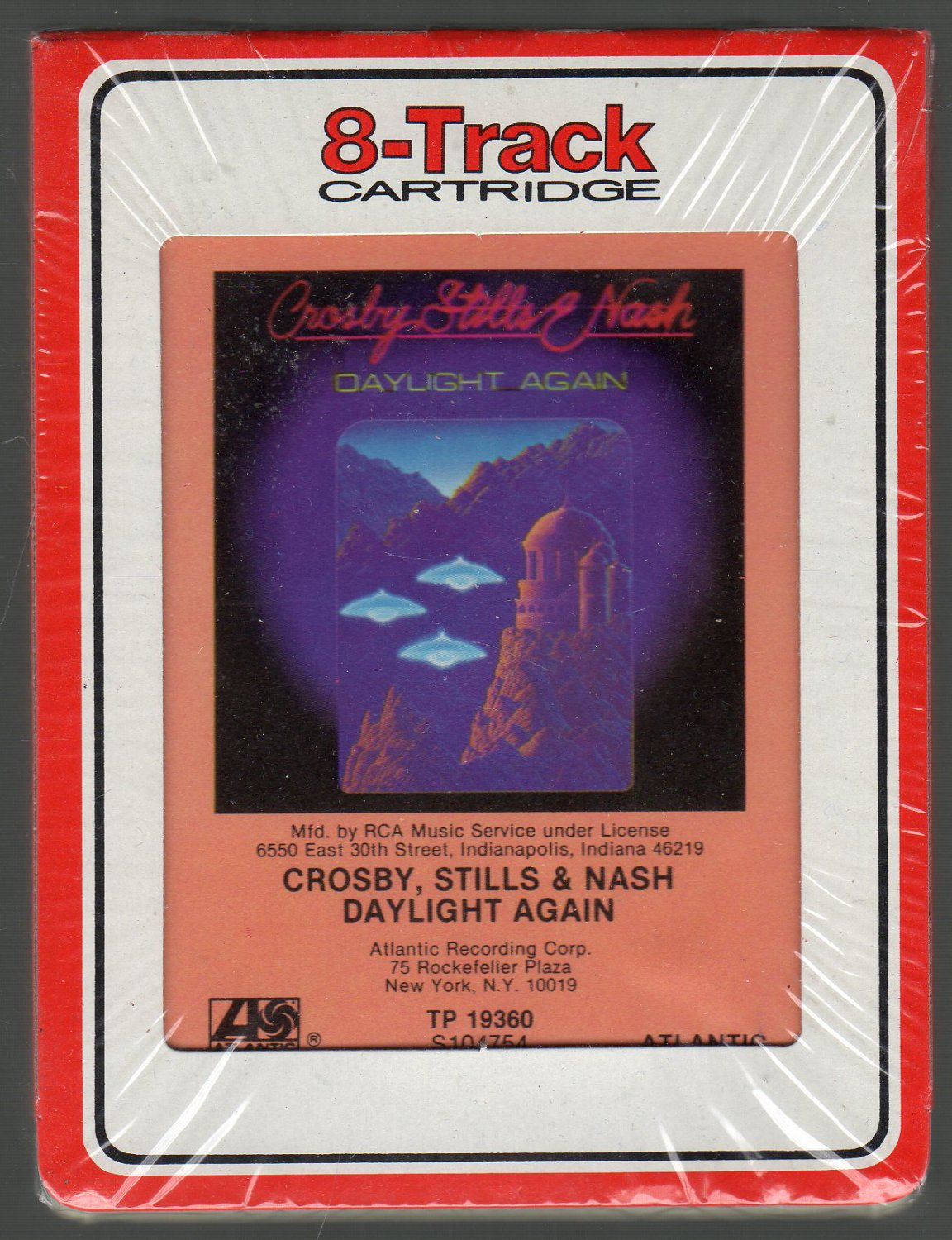 Crosby, Stills & Nash - Daylight Again 1982 SOLD RCA Sealed 8-track tape