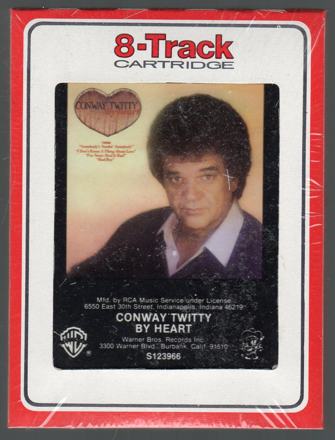 Conway Twitty - By Heart 1984 RCA Sealed 8-track tape