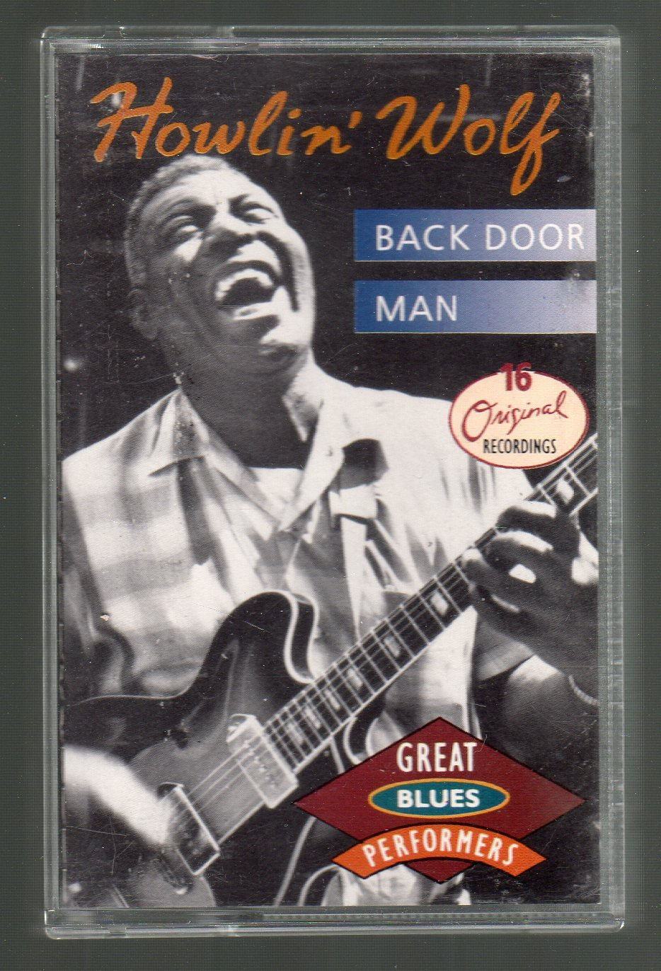 Howlin' Wolf - Back Door Man 16 Original Recordings SOLD RARE Cassette Tape