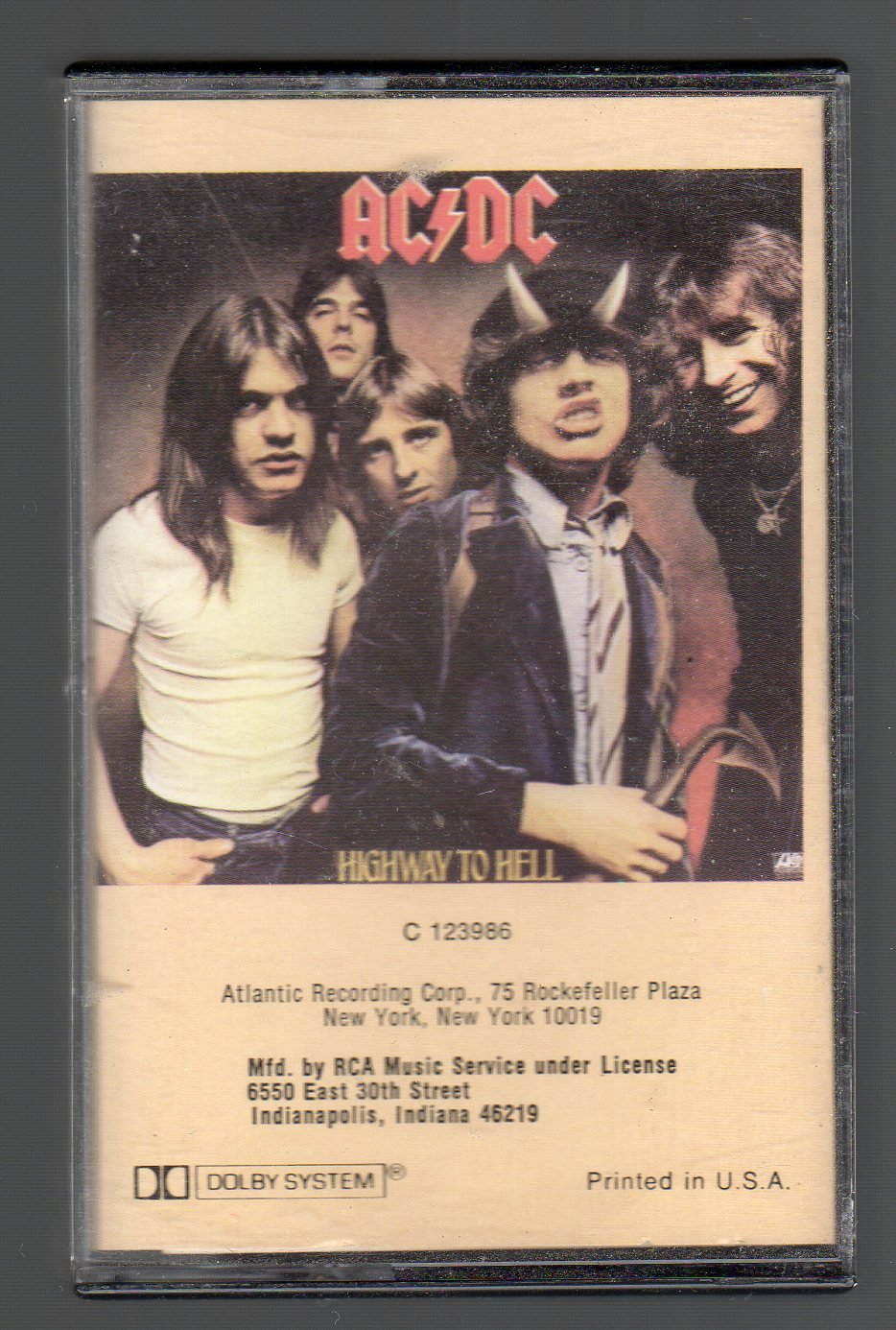 AC/DC - Highway To Hell SOLD Cassette Tape