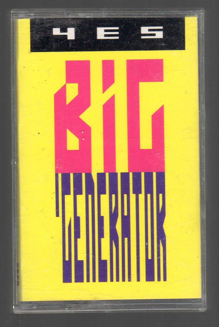 Yes - Big Generator Cassette Tape