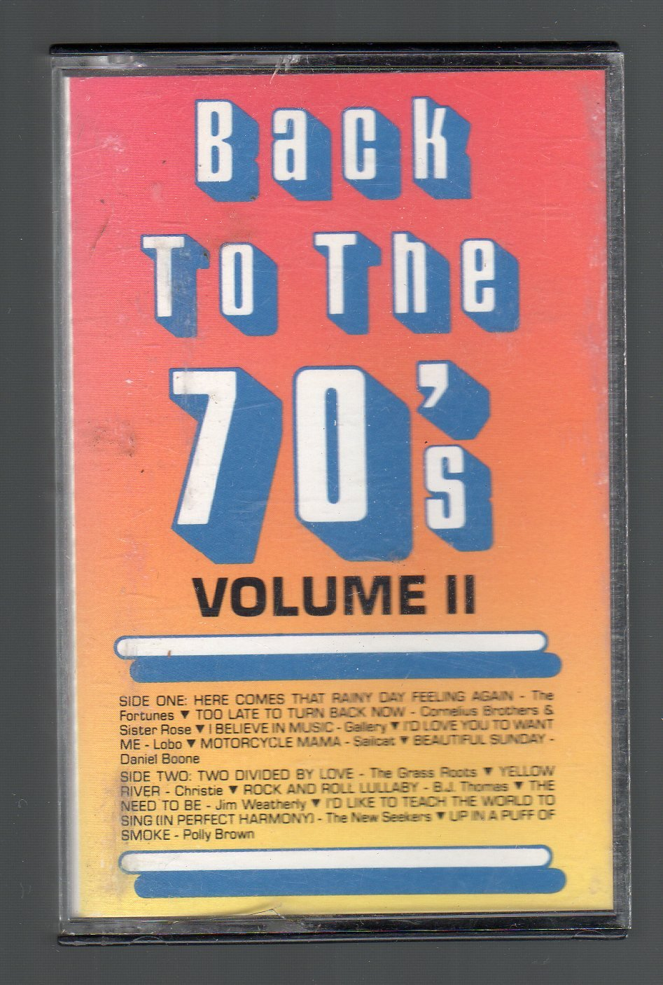 Back To The 70's Vol II - Pop Rock Various Cassette Tape