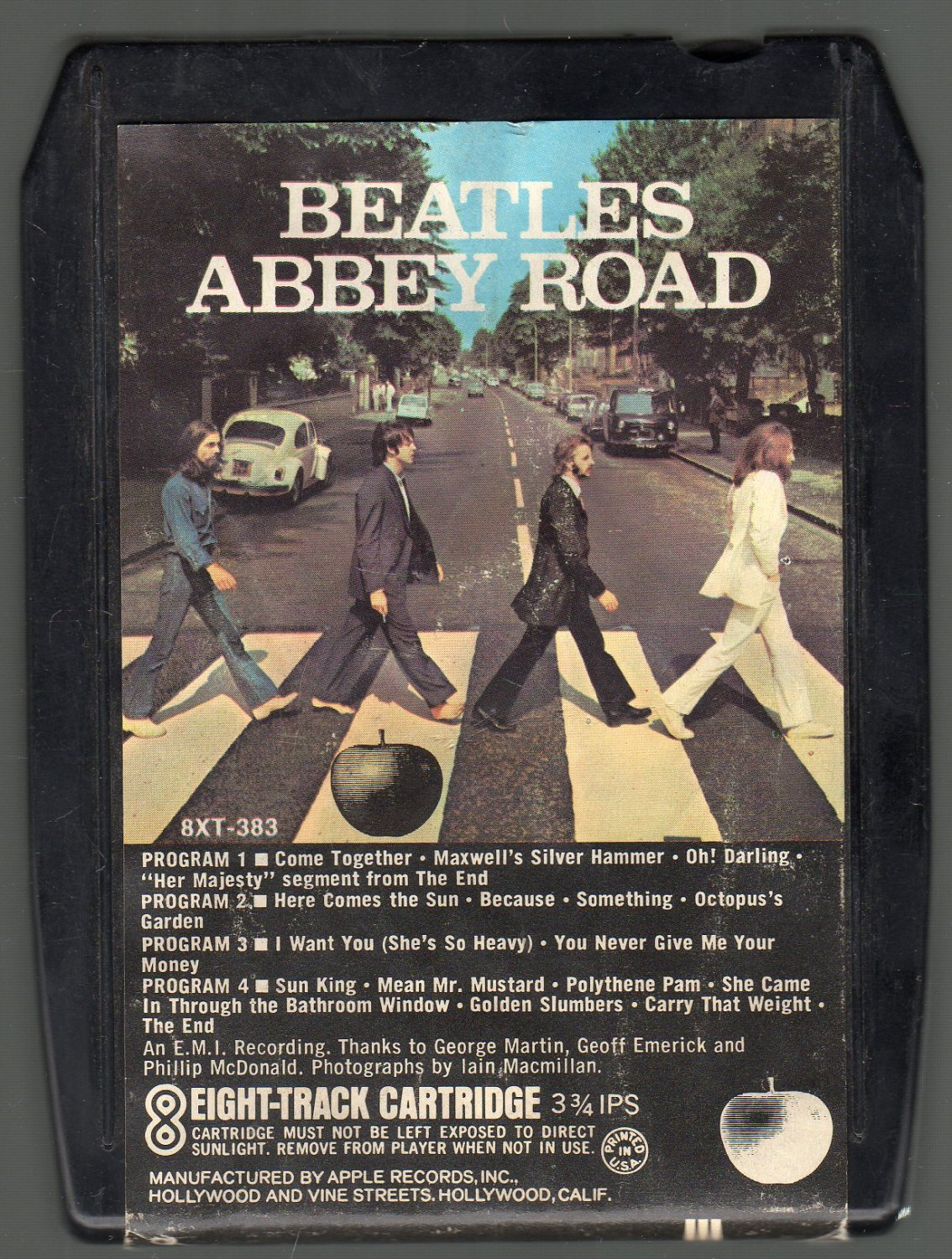 The Beatles - Abbey Road 1969 Blk Apple SOLD 8-track tape