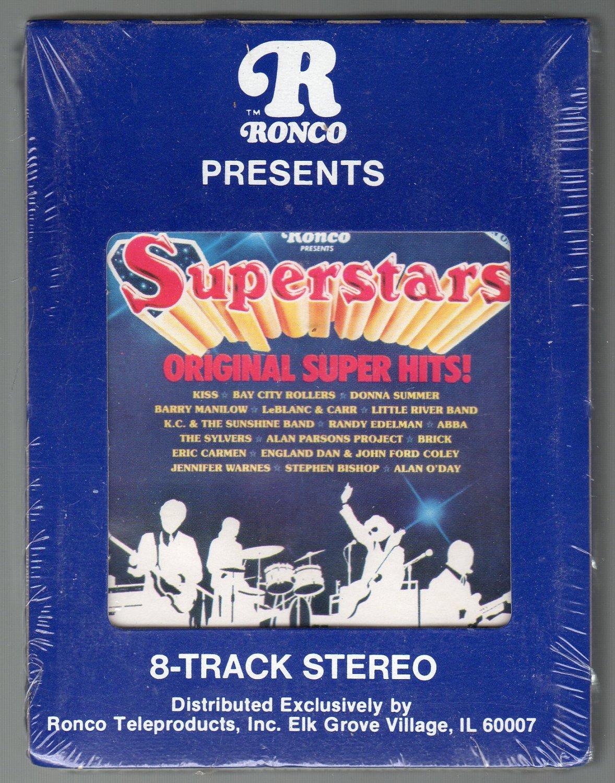 Superstars - Original Super Hits RONCO Sealed SOLD 8-track tape