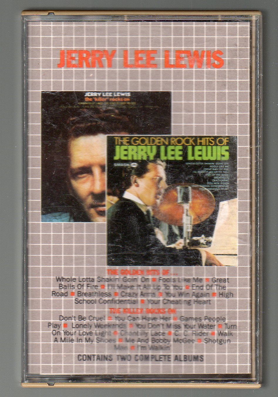 Jerry Lee Lewis - The Golden Hits Of & The Killer Rocks On Cassette Tape