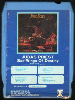 Judas Priest - Sad Wings Of Destiny 1976 GRT 8-track tape