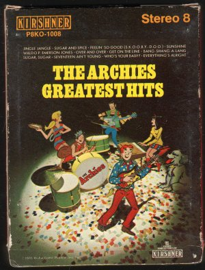 The Archies - Greatest Hits 1970 RCA Kirshner Art Sleeve 8-track tape
