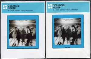 Fleetwood Mac - Fleetwood Mac Live Vol 1 & 2 CRC Sealed 8-track tape