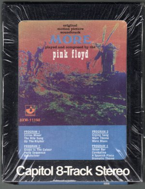 "Pink Floyd - Soundtrack From The Film ""More"" 1969 CAPITOL Sealed SOLD 8-track tape"