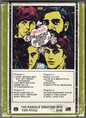 The Rascals- Time Peace Greatest Hits 1968 ATLANTIC 8-track tape