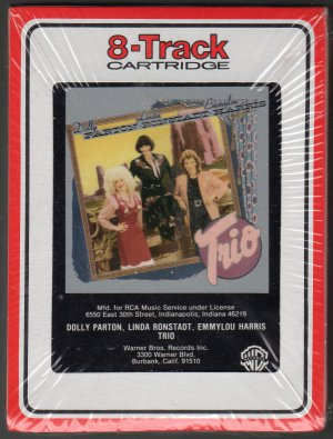 Dolly Parton, Linda Ronstadt, Emmylou Harris - Trio 1987 RCA Sealed 8-track tape