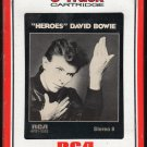David Bowie - Heroes 1977 RCA A1 8-track tape