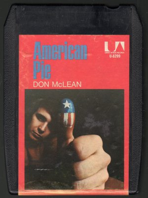 Don McLean - American Pie 1971 UA A43 8-track tape