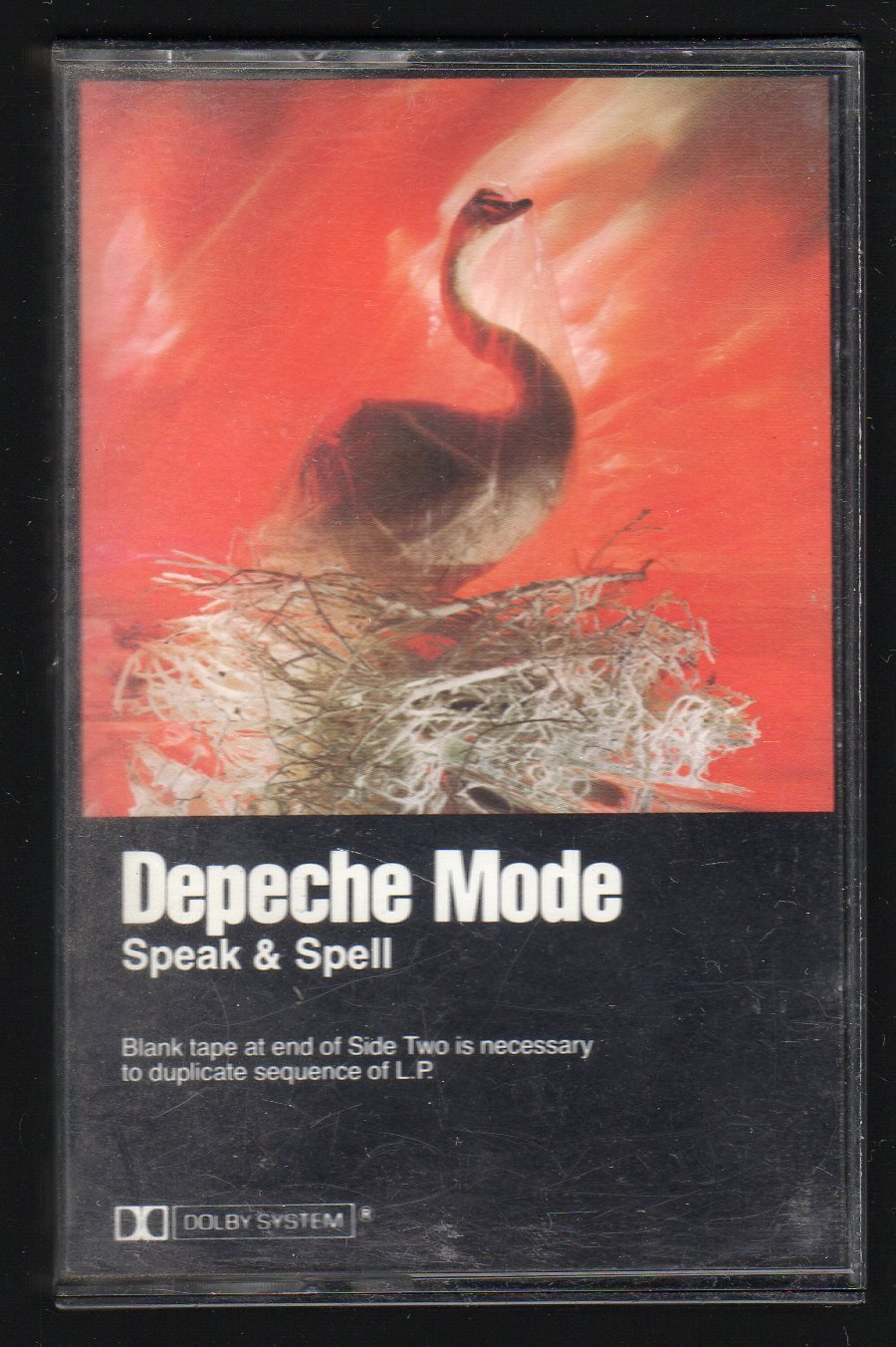 Depeche Mode - Speak & Spell C3 Cassette Tape